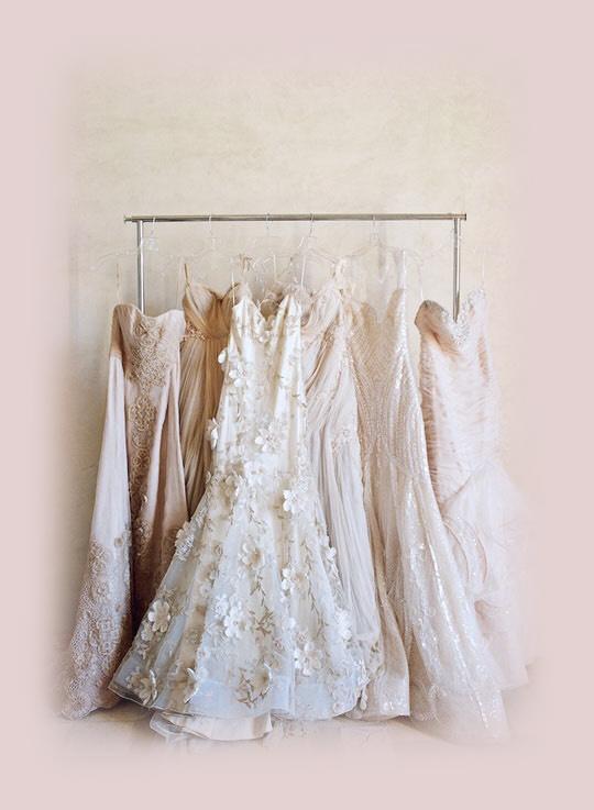Azarue's Bridal Elegant dresses hanging
