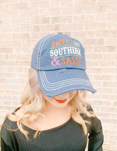 """Sweet, Southern, & Classy"" Hat (Denim)"