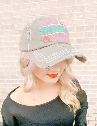 """Sweet, Southern, & Classy"" Hat (Grey)"
