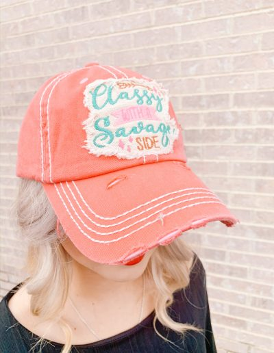 """Classy With A Sassy Side"" Hat (Coral)"