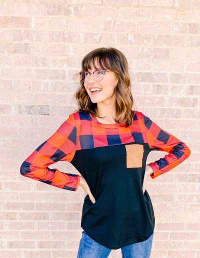 """No Plaid Jane Top <br> <p class=""""sold-out"""">SOLD OUT</p>"""